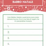 Lettera Babbo Natale personalizzata